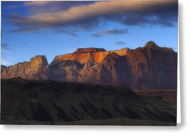 Best Sellers -  - Slickrock Greeting Cards - Zion National Park Utah Greeting Card by Utah Images