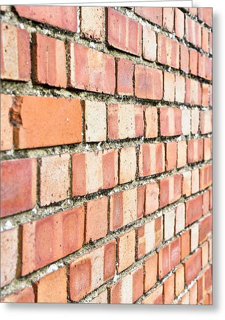 Aging Greeting Cards - Brick wall Greeting Card by Tom Gowanlock