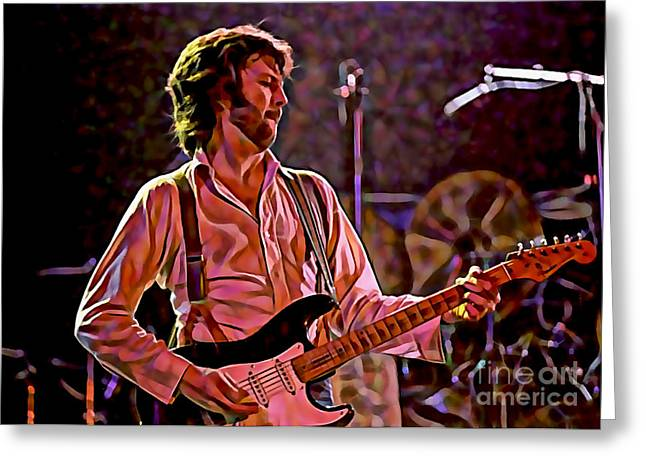 Eric Clapton Greeting Cards - Eric Clapton Collection Greeting Card by Marvin Blaine