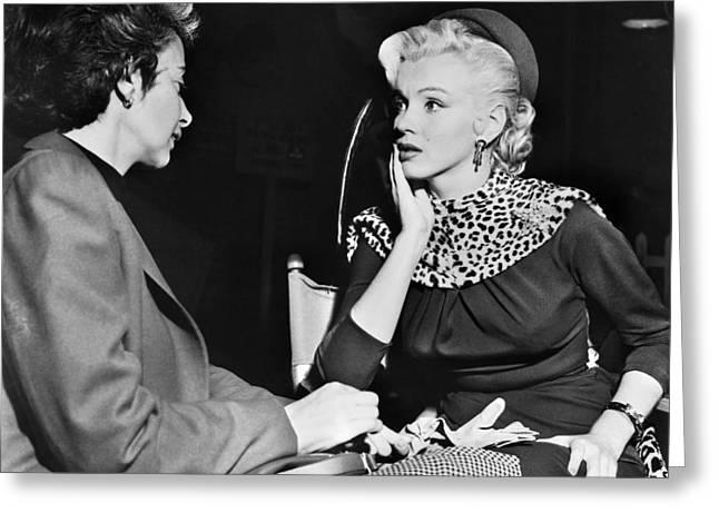 Marilyn Monroe (1926-1962) Greeting Card by Granger