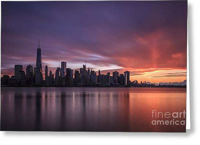 30 Seconds Before Sunrise Greeting Card by Evelina Kremsdorf