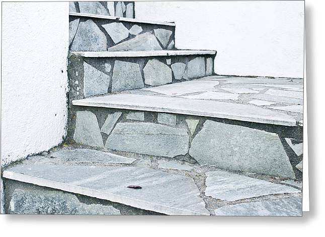Stone Steps Greeting Card by Tom Gowanlock