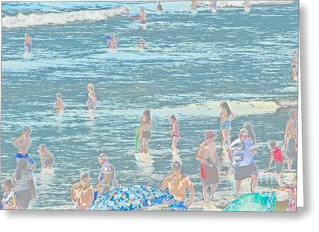 Beach Themed Art Greeting Cards - 300 Dollar Swimsuits Greeting Card by Jacqueline Howe