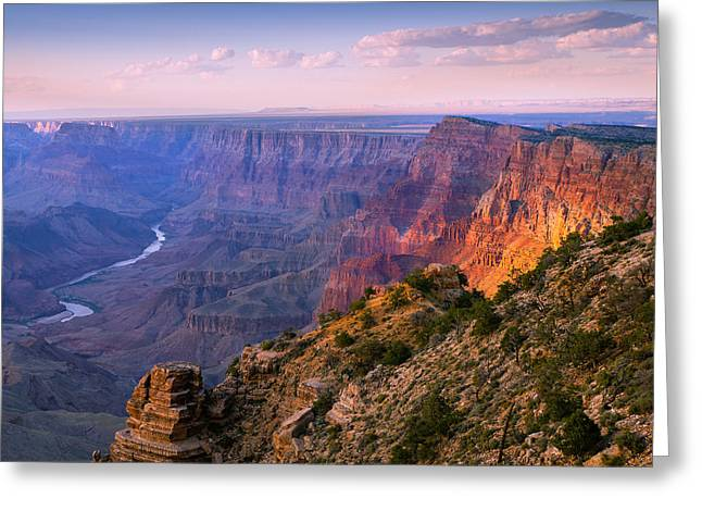 Canyon Glow Greeting Card by Mikes Nature