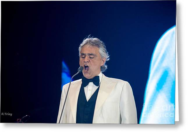 Nominee Greeting Cards - Andrea Bocelli in Concert Greeting Card by Rene Triay Photography