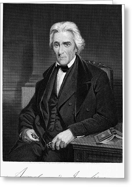 Chappel Greeting Cards - Andrew Jackson (1767-1845) Greeting Card by Granger