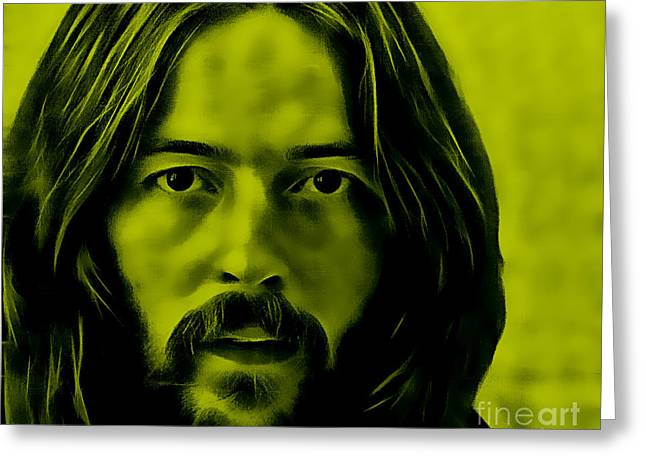 Rock N Roll Mixed Media Greeting Cards - Eric Clapton Collection Greeting Card by Marvin Blaine