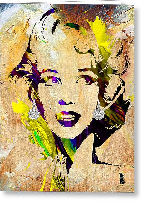 Monroe Greeting Cards - Marilyn Monroe Collection Greeting Card by Marvin Blaine