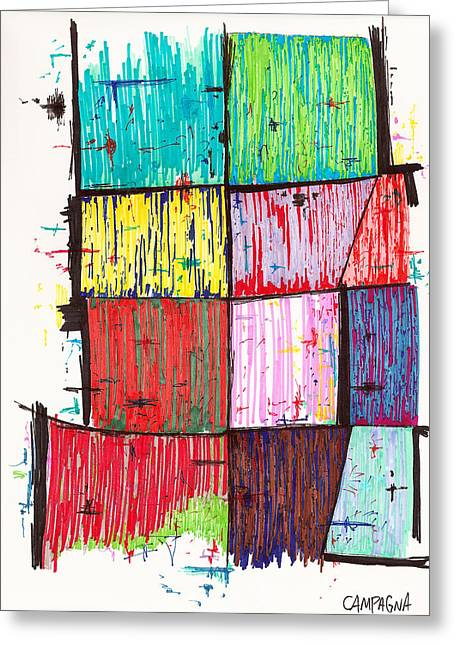 ist Marker Drawings Greeting Cards - Untitled Greeting Card by Teddy Campagna