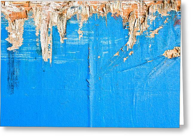 Weathered Wood Greeting Card by Tom Gowanlock