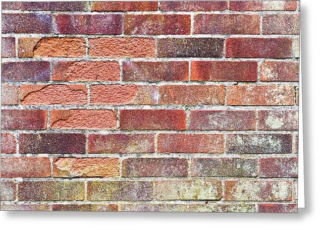 Shatters Greeting Cards - Brick wall Greeting Card by Tom Gowanlock