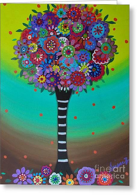 Interior Still Life Paintings Greeting Cards - Tree Of Life Greeting Card by Pristine Cartera Turkus