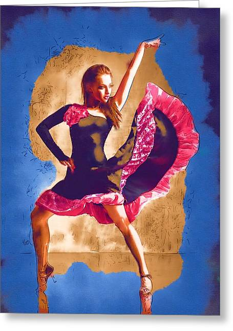 Ballet Dancers Greeting Cards - You Dance Greeting Card by Michael Vicin