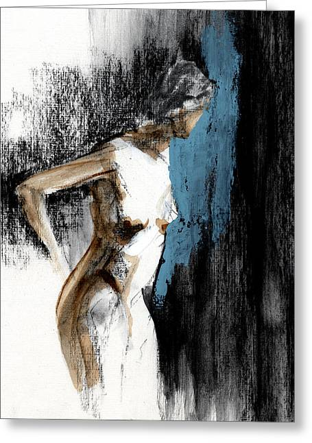 Figures Mixed Media Greeting Cards - RCNpaintings.com Greeting Card by Chris N Rohrbach