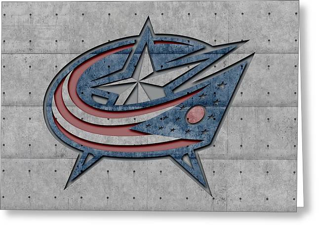 Jacket Greeting Cards - Columbus Blue Jackets Greeting Card by Joe Hamilton