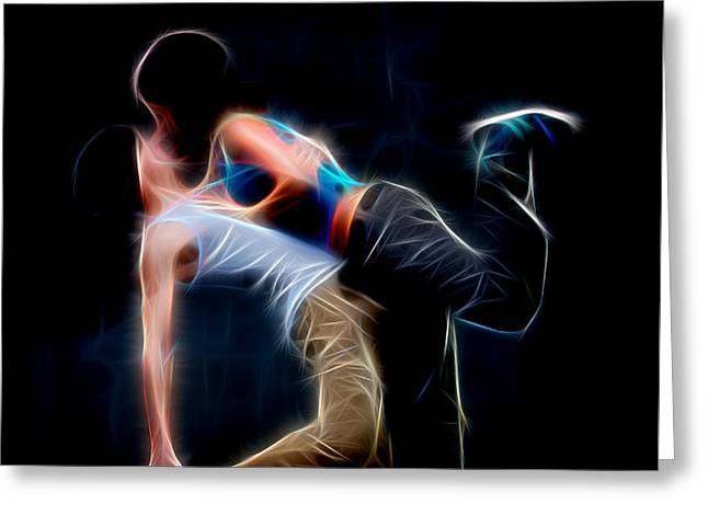 Lessons Greeting Cards - Dancer Greeting Card by Michael Vicin