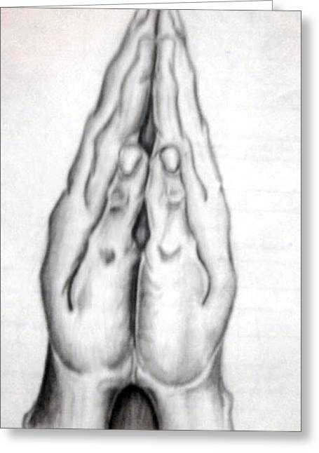 Praying Hands Greeting Cards - Untitled  Greeting Card by Cn