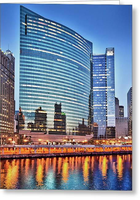 333 Greeting Cards - 333 Wacker Drive Greeting Card by Donald Schwartz
