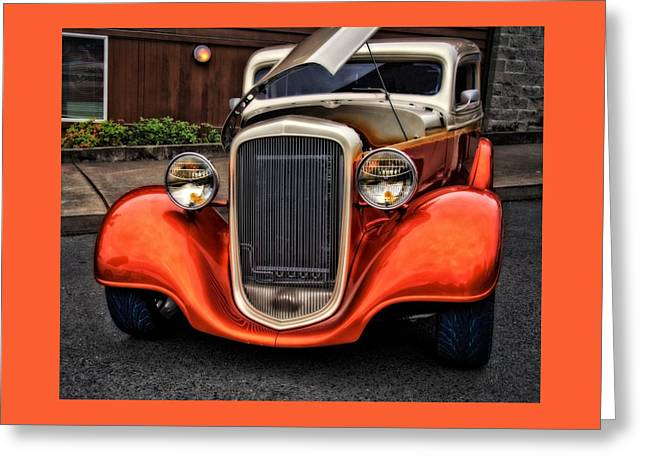 Caves Greeting Cards - 34 Chevy On The Prowl Greeting Card by Thom Zehrfeld