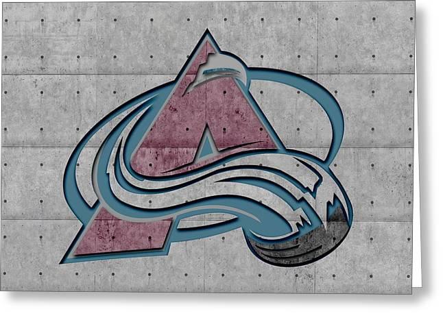 Ice-skating Greeting Cards - Colorado Avalanche Greeting Card by Joe Hamilton