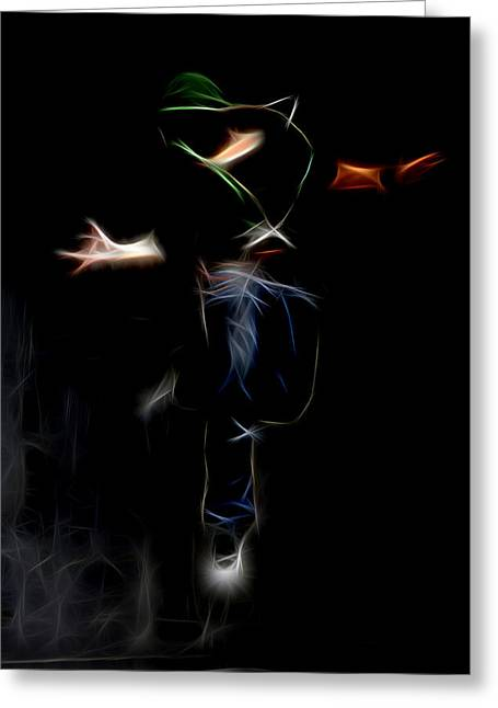 Lessons Greeting Cards - Dance And Greeting Card by Michael Vicin