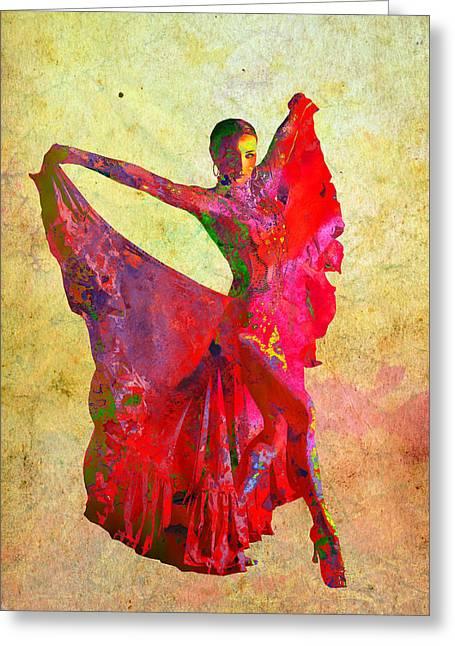 Dance Greeting Card by Elena Kosvincheva