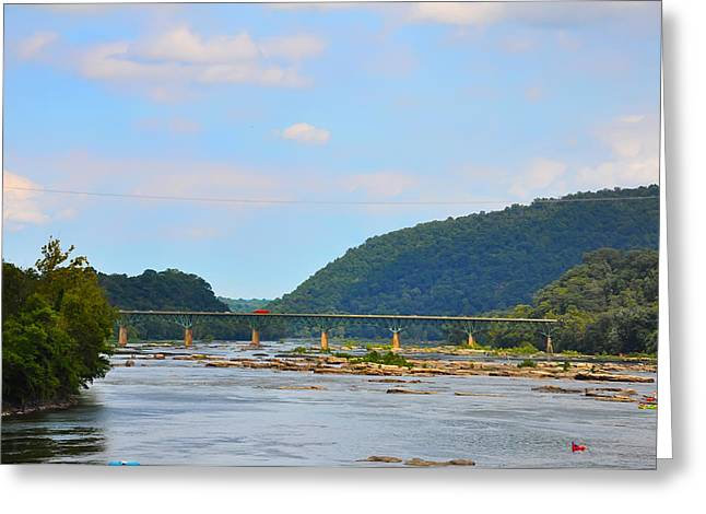 Harpers Ferry Digital Greeting Cards - 340 Bridge Harpers Ferry Greeting Card by Bill Cannon