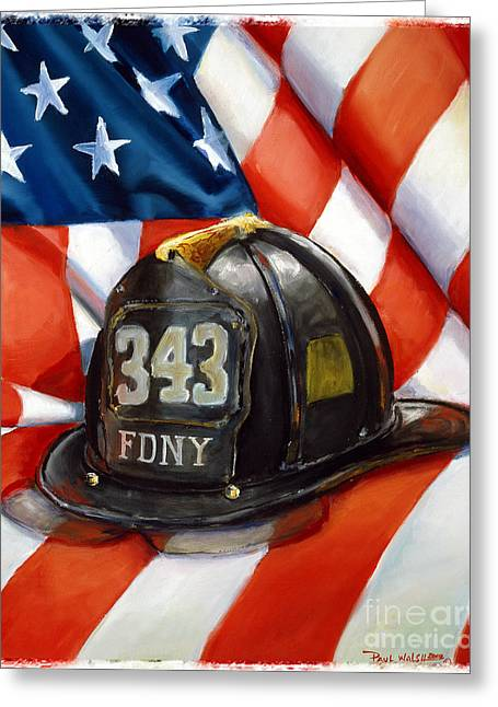 Firefighter Greeting Cards - 343 Greeting Card by Paul Walsh