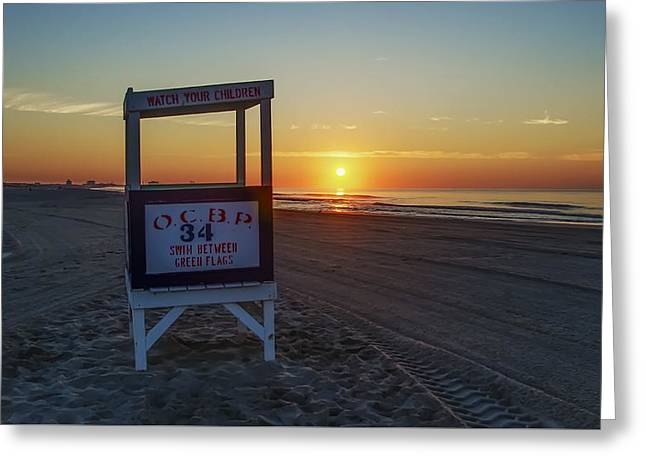 Ocean Photography Greeting Cards - 34th Street Ocean City Greeting Card by Bill Cannon
