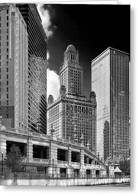 E Black Greeting Cards - 35 East Wacker Chicago - Jewelers Building Greeting Card by Christine Till