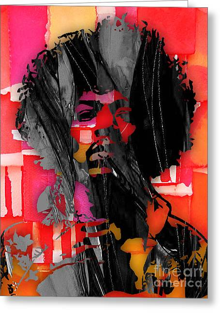 Pop Mixed Media Greeting Cards - Jimi Hendrix Collection Greeting Card by Marvin Blaine