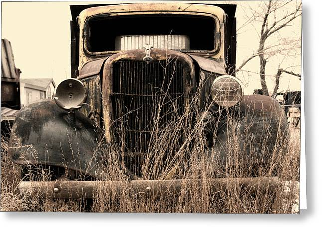 Best Sellers -  - Rusted Cars Greeting Cards - 35 Workhorse Greeting Card by Kurt Golgart