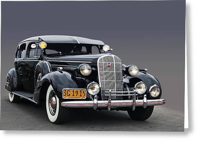 Cruisin For A Cure Greeting Cards - 36 Buick 8 sedan Greeting Card by Bill Dutting