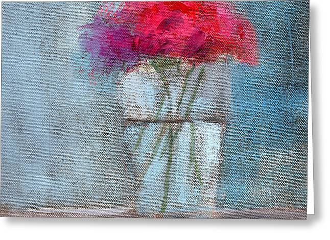 Best Sellers -  - Glass Vase Greeting Cards - RCNpaintings.com Greeting Card by Chris N Rohrbach