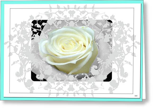 Lace Trim Greeting Cards - Wedding Rose Collection  Greeting Card by Debra     Vatalaro
