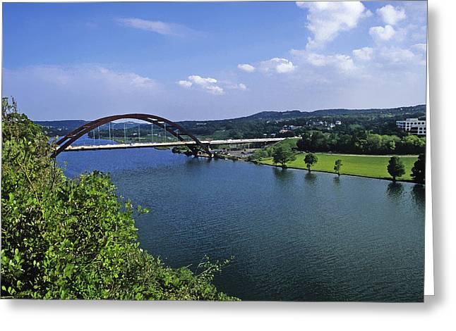 Texas Bridge Greeting Cards - 360 Bridge Greeting Card by Stephen Anderson