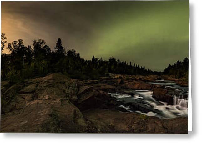 Geology Photographs Greeting Cards - 360 Cascades Night Greeting Card by Jakub Sisak