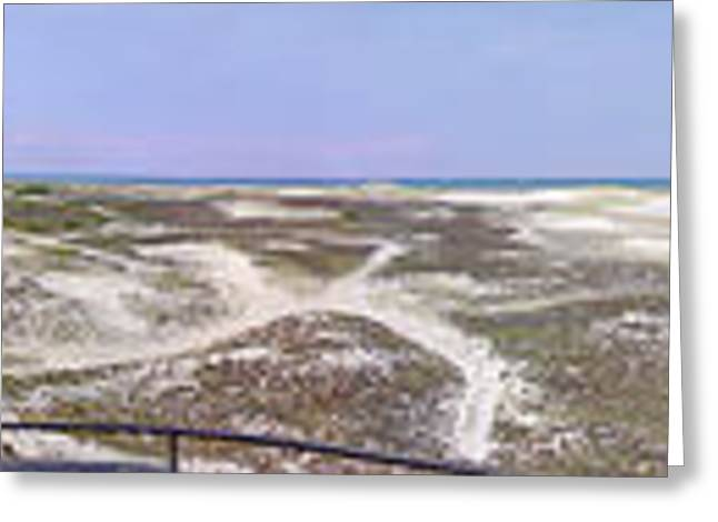 Surf Fishing Greeting Cards - 360 Panorama of Sandy Neck Greeting Card by Charles Harden
