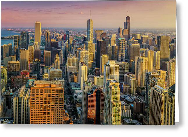 360chicago Golden Minute Greeting Card by Scott Campbell