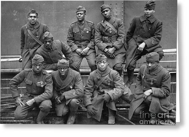 U.s Army Greeting Cards - 369th Infantry Regiment Greeting Card by Granger