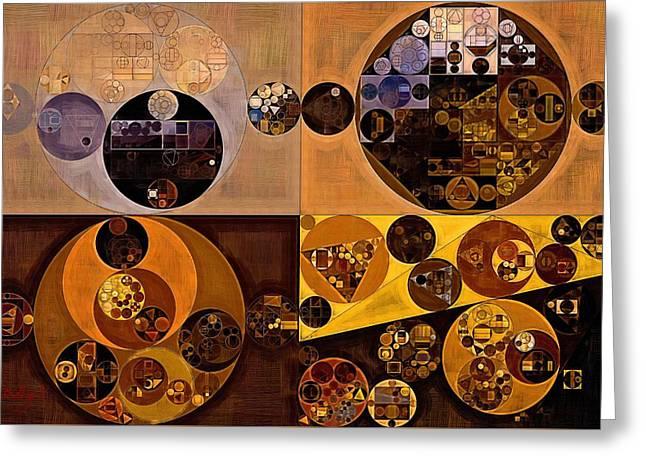 Abstract Painting - Zinnwaldite Brown Greeting Card by Vitaliy Gladkiy