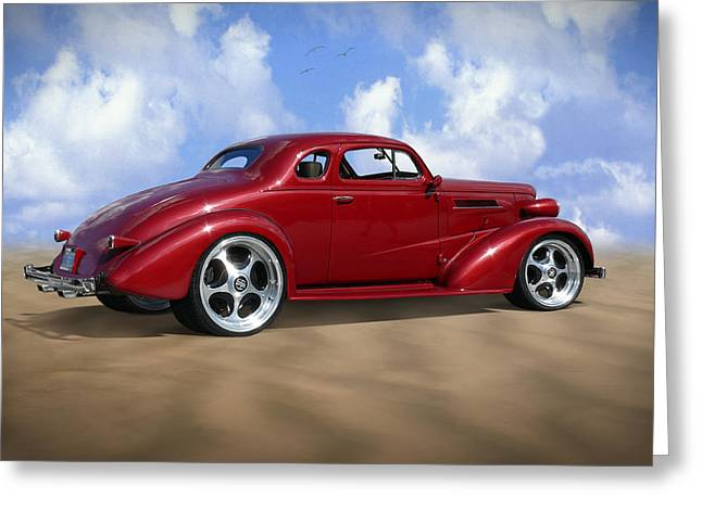 37 Chevy Coupe Greeting Card by Mike McGlothlen