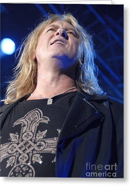 Def Leppard Greeting Card by Jenny Potter