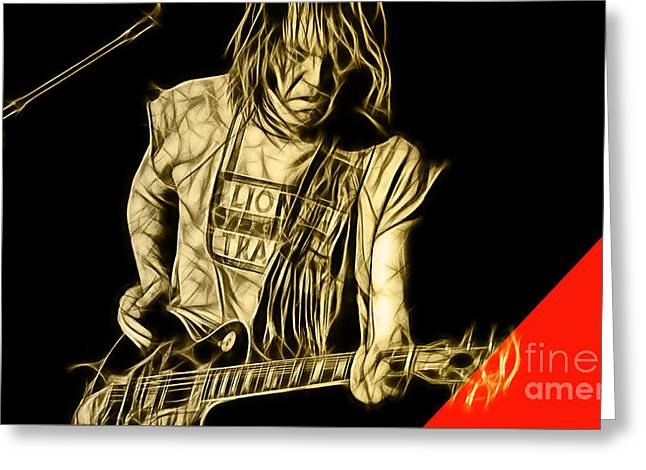 Pop Singer Greeting Cards - Neil Young Collection Greeting Card by Marvin Blaine