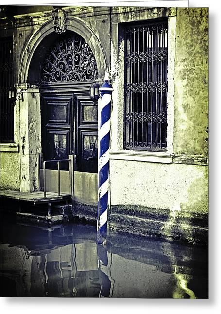 Venetian Doors Greeting Cards - Venezia Greeting Card by Joana Kruse