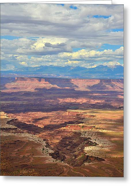 The Plateaus Greeting Cards - Canyonlands Greeting Card by Ray Mathis