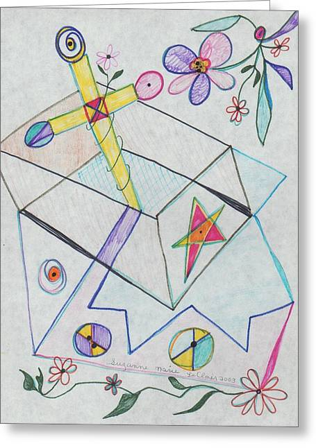 Suzanne Leclair Greeting Cards - Untitled Greeting Card by Suzanne  Marie Leclair