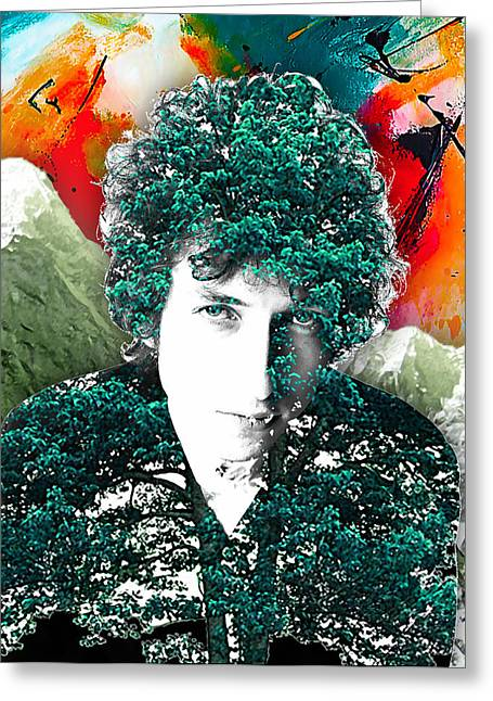 Bob Dylan Print Greeting Cards - Bob Dylan Collection Greeting Card by Marvin Blaine