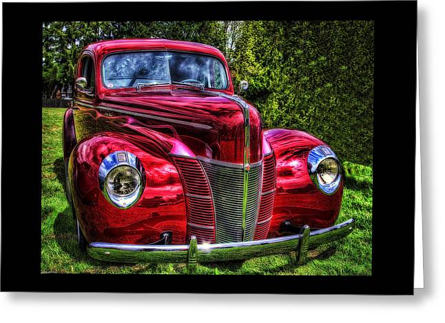 Warm Greeting Cards - 38 Ford Coupe  Greeting Card by Thom Zehrfeld