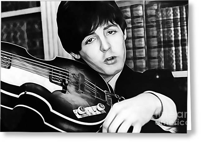 Mccartney Greeting Cards - Paul McCartney Collection Greeting Card by Marvin Blaine